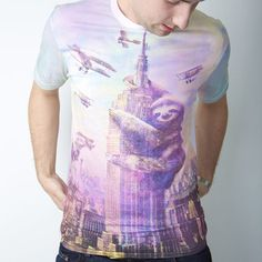 Slothzilla Tee Men's, $16, now featured on Fab.