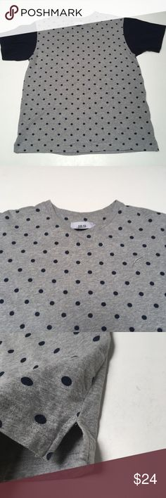 Publish Polka Dot Raglan Shirt Large Awesome design Trusted publish quality Tiny hole noted in last pic Plenty of style miles left.   Please check measurements in pics for fit reference.     Smoke and pet free storage  Happy to answer any questions    Thanks for looking Publish Shirts Tees - Short Sleeve