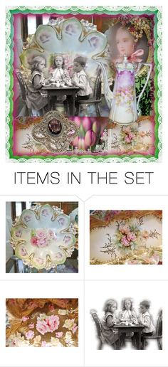 """""""Victorian Tea Party"""" by pattysporcelainetc ❤ liked on Polyvore featuring art and vintage"""