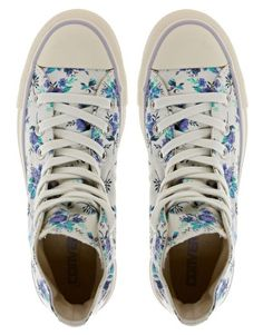 Enlarge Converse All Star Floral High Top Trainers