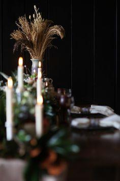 Scandinavian wedding.  Wheat.  Wedding table setting.  Floral garland. @Studio Laguna Photography @Sadie's Floral