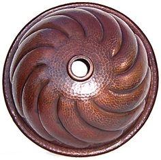 coppery sink Copper Sinks, Hammered Copper, One Design, Decorative Bowls, Rustic, Ceramics, Bathroom, Country Primitive, Ceramica