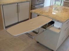 #ironing #board hidden in the kitchen island!