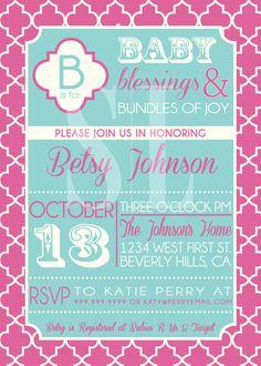 BABY SHOWER invitation by SLDESIGNTEAM on Etsy, $18.00
