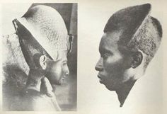 """Ancient Kemet Pharaoh wearing the """"War Head-Crown"""" & a Great Warrior from the Tutsi Tribe..."""