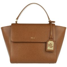 4dc84f7e77 Lauren Ralph Lauren Shoulder Bag - Barclay Leather Crossbody Bag Tan -... (