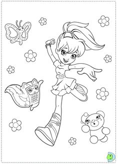 mini polly pocket coloring pages - photo#9