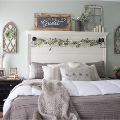 farmhouse bedroom bedroom wall decor You Me And The Dogs Shiplap Wood Sign Shrubs - the W Home Decor Bedroom, Modern Bedroom, Bedroom Wall, Bedroom Ideas, Warm Bedroom, Bedroom Designs, Bedroom Storage, Taupe Bedroom, Bedroom Brown