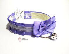 Choker Gothic Lolita Pastel Goth white purple by KawaiiRevolution