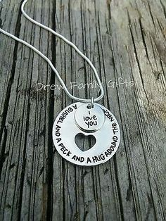 I love you a Bushel and a peck and a hug around the neck Gift layered necklace
