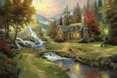 Van Eyck printed thomas landscape oil painting on canvas wall art prints picture for living room home decorations 60x90 cm >>> Want additional info? Click on the image.