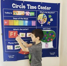 Start off the school day with our Circle Time Learning Center—whether kids are learning at home or in the classroom! It's a fun and engaging way for practice with calendar concepts, the alphabet, counting and more! 📷 @bigabilities The New School, New School Year, School Days, Delray Beach Florida, Lakeshore Learning, Toddler Classroom, Back To School Essentials, Early Math, Teacher Supplies