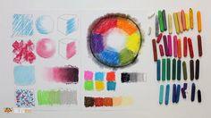 DrawFox. Сухая пастель для начинающих. Урок 1-1. Основные техники пастел...