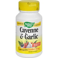 Nature's Way Cayenne and Garlic - 100 Capsules