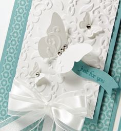 Close-Up ... Ab-so-toot-ly gorgeous Stampin' up! card by Beth Beard, a member of the Stampin' Pretty Pals.  ♥ the vellum butterfly!