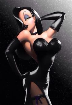 Goth Jessica Rabbit!  More PinUps @ http://groups.google.com/group/Just-PinupArt & http://groups.yahoo.com/group/Just-Pinup-Art  & http://www.facebook.com/ComicsFantasy & http://www.facebook.com/groups/ArtandStuff