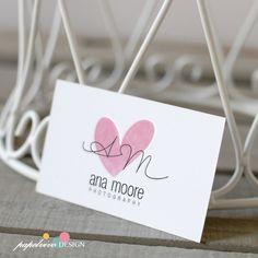 Premade logo design. Matching business card. Diseño de logo, logo para artistas, logo acuarela, logo elegante, logo corazon by papelvivodesign on Etsy