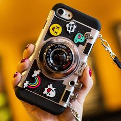 Creative Cartoon Camera Shape Stereo Rabbit Bear Chick Ghost Chanel Phone Case Iphone 6/6 plus/6s/6s plus/7/7 plus/8/8 plus/X Case