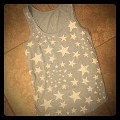 🔷SALE🔷⭐️🇺🇸 STARS🇺🇸⭐️ TANK TOP Soft cotton racer back tank top. Cute star make for a GREAT 4th of July top! Tops Tank Tops