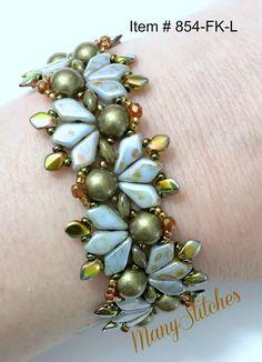 Flying Kites Bracelet Kit | Etsy Beaded Bracelets Tutorial, Beaded Bracelet Patterns, Jewelry Patterns, Beaded Earrings, Beading Patterns, Beading Ideas, Seed Bead Jewelry, Bead Jewellery, Jewelry Making Beads