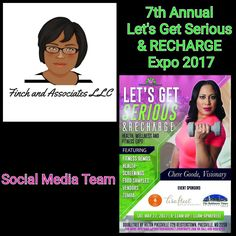 Finch and Associates LLC is honored to be providing Social Media Services for the Let's Get Serious Expo with Visionary @ChereGoode! Register today at http://ift.tt/2h7UoRK