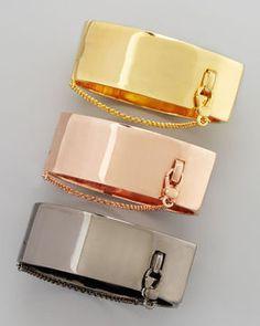 shopstyle.com: Eddie Borgo Safety Chain Cuff, Yellow Golden