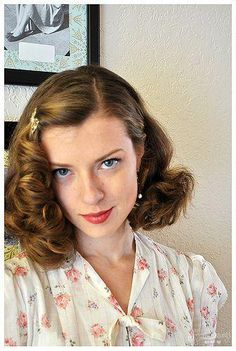 Retro hairstyles elegant 02 10 10 the new do female character inspiration 1940s Hairstyles For Long Hair, 50s Hairstyles, Wedding Hairstyles, Hairstyle Ideas, Long Haircuts, Hair Inspo, Hair Inspiration, Character Inspiration, 40s Mode