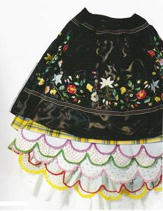 7 skirts from Nazaré-Portugal | #portuguese_traditional_costumes #Portugal #nazare
