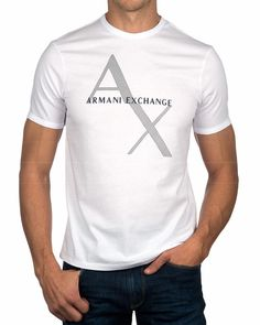 Camiseta ARMANI EXCHANGE ® Blanca Logo | ENVÍO GRATIS