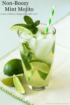 Non-Boozy Mint Mojito - Whats Cooking With Ruthie