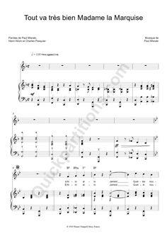 partition piano francis cabrel partitions musique partition