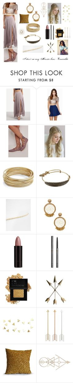 """Esmeralda at Coachella"" by sanjna-sanjiv on Polyvore featuring WithChic, Twigs & Honey, Design Lab, Alex and Ani, ASOS, Deepa Gurnani, Serge Lutens, Burberry, Forever 21 and Lene Bjerre"