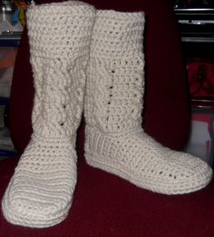 Crochet Boots by daniellewilber on Etsy, $20.00. So cute!!!!  I love them!