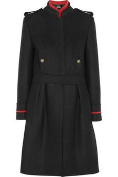 Alberta Ferretti Convertible wool-blend coat | NET-A-PORTER