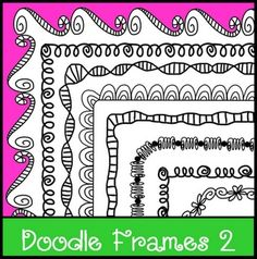 Loops+and+Curls...black+line+doodle+frames.++From+the+Lesson+Cloud!