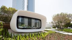 Completed in 2016 in Dubai, United Arab Emirates. Images by WAM, Nedal Machou, Tommaso Calistri. Killa Design has developed the world's first fully functional and permanently occupied printed office in Dubai. Office of the Future building is. 3d Printed Building, 3d Printed House, Architecture Student, Modern Architecture, Modern Buildings, Future Buildings, Future Office, Earth Homes, 3d Prints