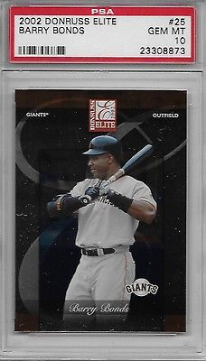 2002 DONRUSS ELITE # 25 BARRY BONDS SAN FRANCISCO S.F. SF GIANTS PSA 10 GEM-MINT