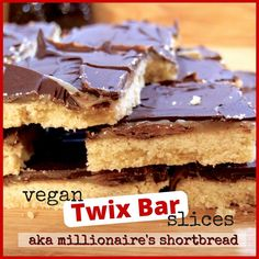 Crumbly shortbread biscuit, topped with dairy-free caramel and dark chocolate. These gorgeous homemade vegan twix bars are a sure-fire hit! (Parve)