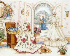 """""""Gifts Of Love"""" cross stitch pattern by Paula Vaughan"""