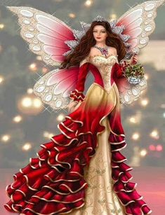 Elfen Fantasy, Fantasy Art, Fantasy Fairies, Magical Creatures, Fantasy Creatures, Fairy Pictures, Fairy Figurines, Christmas Figurines, Love Fairy
