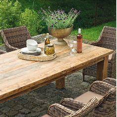 Unique Tisch aus recyceltem Teakholz von Landmann
