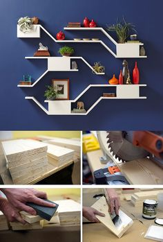 Making these modern and functional floating bookshelves can be a fun and exciting weekend project that just about anyone can do. We have the step-by-step tutorial.