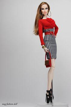 Barbie Dolls : New outfit for Fashion Royalty / FR 12 '' Summer X'' Barbie Dress, Barbie Clothes, Fashion Royalty Dolls, Fashion Dolls, Barbie Mode, Couture Vintage, Barbie Wardrobe, Diva Dolls, Beautiful Barbie Dolls