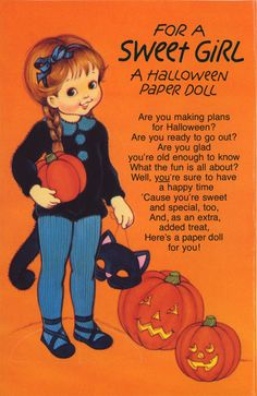FOR A SWEET GIRL A HALLOWEEN PAPER DOLL 1 OF 2