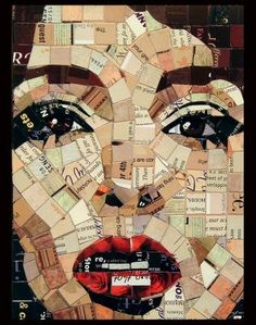 Junk mail collage portrait