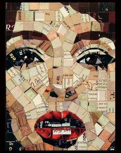 Junk mail collage portrait