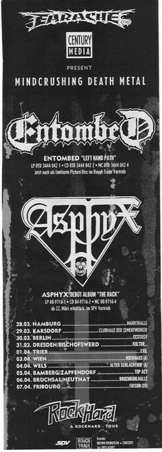 Earache and Century Media: A match made in hell for over 2 decades. Also I wanna go to this fukking show!!!