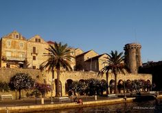 Korcula town with towers, Croatia