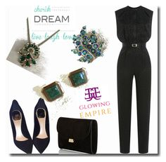 """""""Glowing Empire 8"""" by goldenhour ❤ liked on Polyvore featuring Brewster Home Fashions, Christian Dior, Tamara Mellon and Mansur Gavriel"""