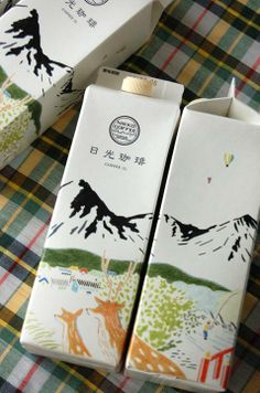 Beautifully designed coffee cartons from Nikko Coffee. Elegant Japanese design
